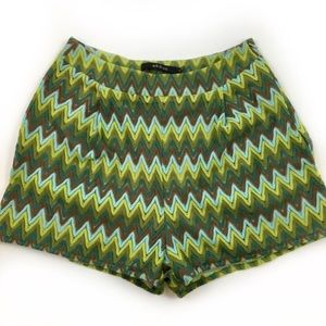Ark & Co. Green Chevron Lace Shorts